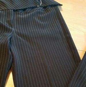 Black pinstripe suit size 5/6